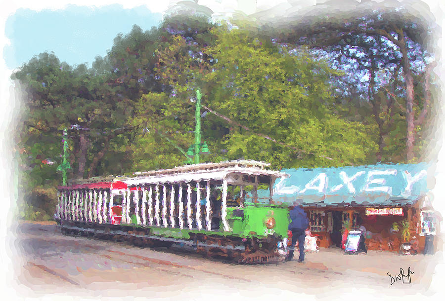 MER Tram at Laxey Station by Digital Painting