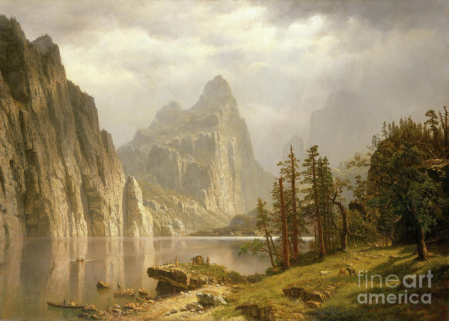 Merced River Drawing by Heritage Images