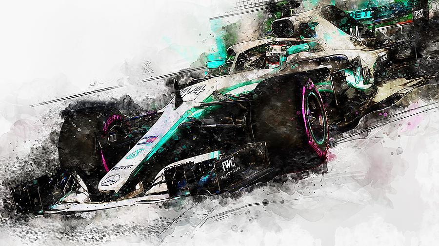 Mercedes W10 - 09 by Andrea Mazzocchetti