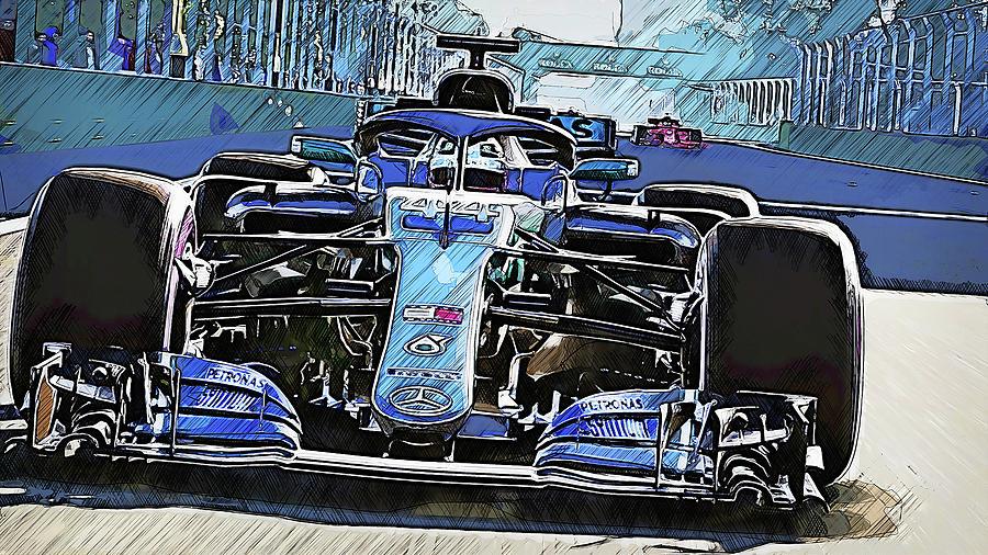 Mercedes W10 - 11 by Andrea Mazzocchetti
