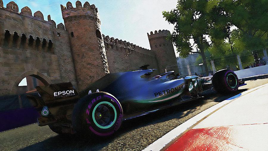 Mercedes W10 - 14 by Andrea Mazzocchetti