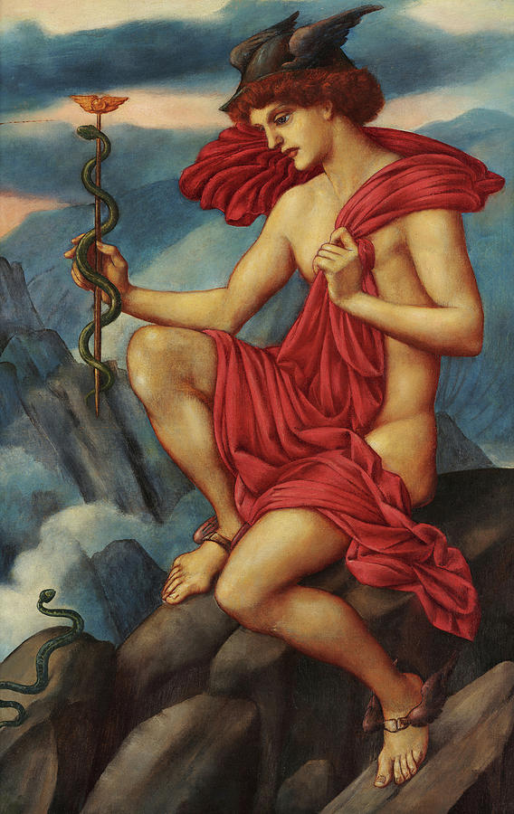 Evelyn De Morgan Painting - Mercury, 1914 by Evelyn De Morgan