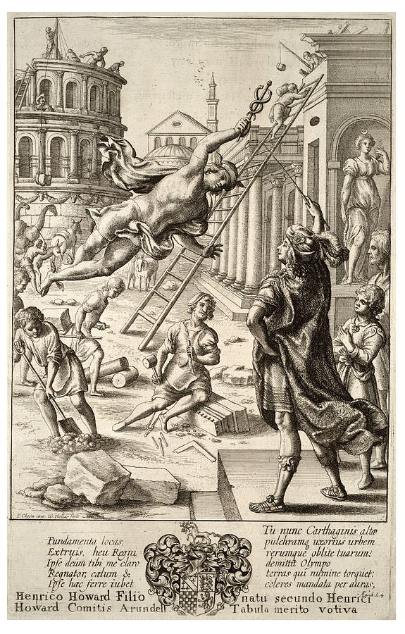 Mercury Painting - Mercury And Aeneas  State    by Wenceslaus Hollar