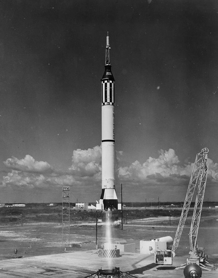 Mercury Launch Photograph by Fox Photos