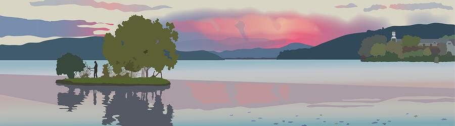 Water Digital Art - Meredith Bay II by Marian Federspiel