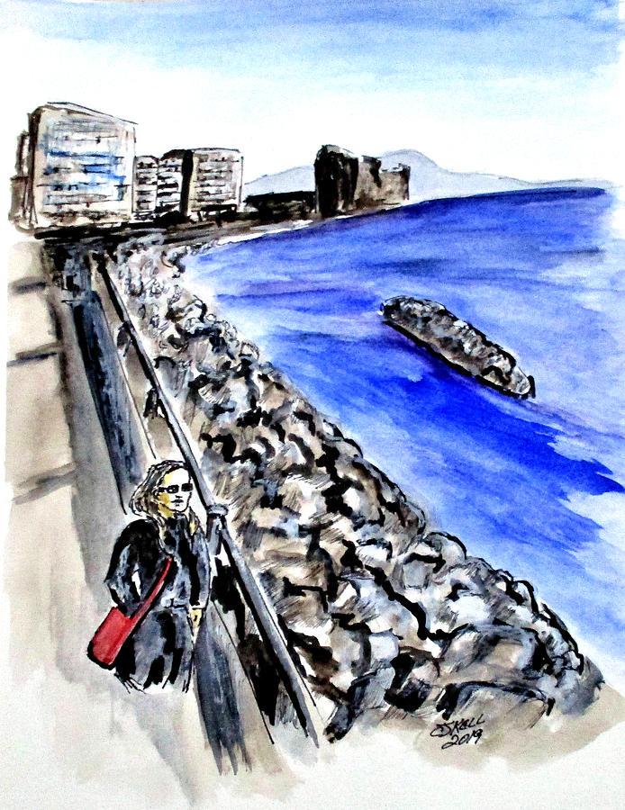 Mergellina Walk by Clyde J Kell
