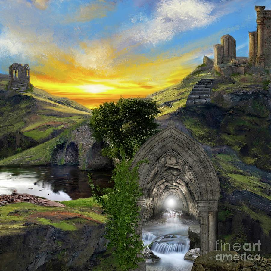 Merlins Cave by Anne Vis
