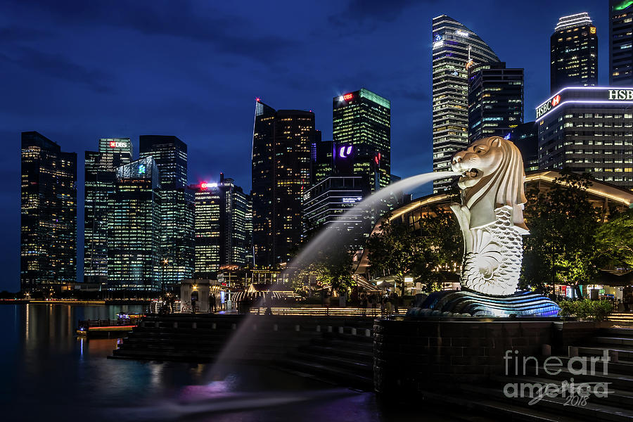 Merlion Photograph by Jeffrey Stone