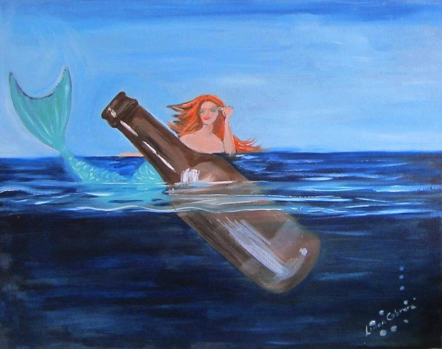 Mermaid and Beer by Linda Cabrera