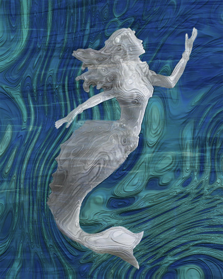 Mermaid Painting - Mermaid - Beneath The Waves Series by Jack Zulli