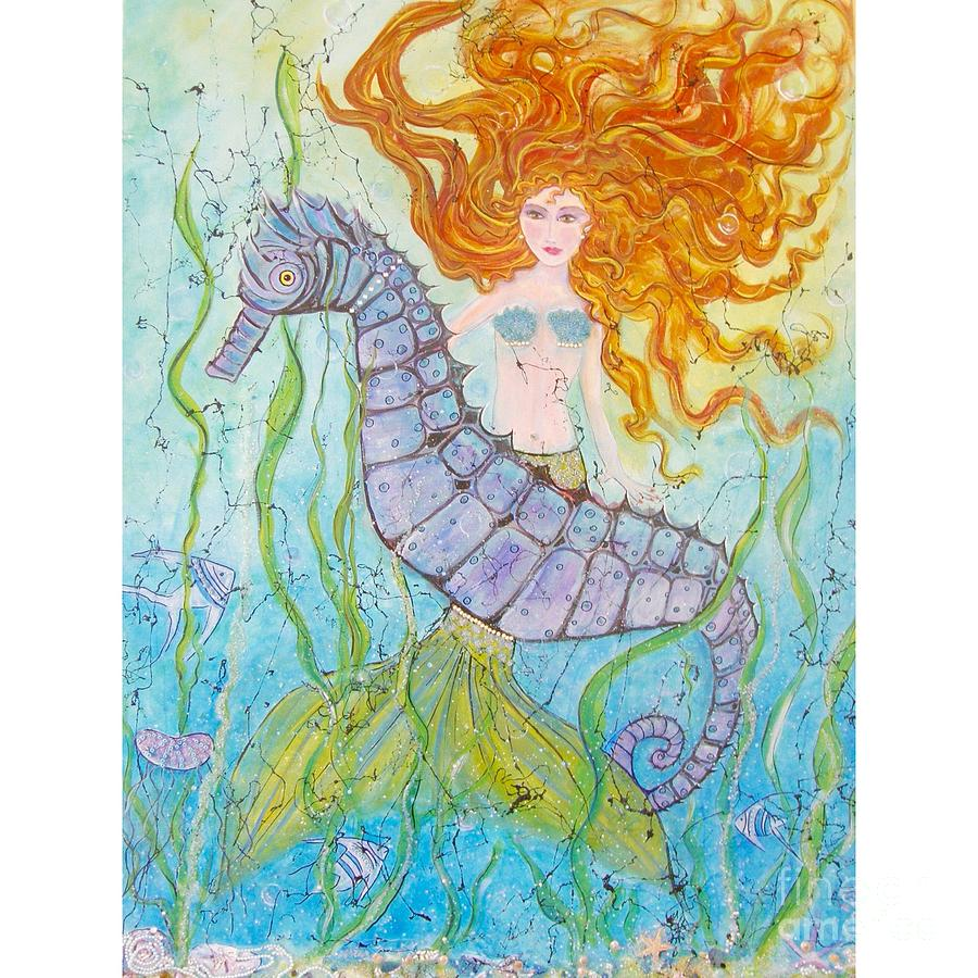 Mermaid Painting - Mermaid Fantasy by Midge Pippel