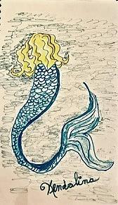 Mermaid in the Sea by Kenlynn Schroeder