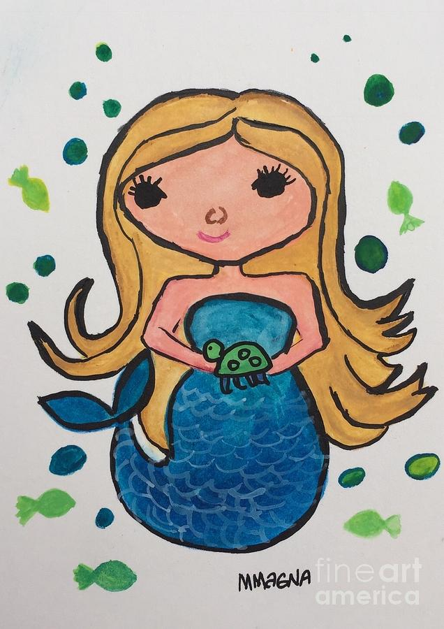 Mermaid in Turquoise  by Marti Magna