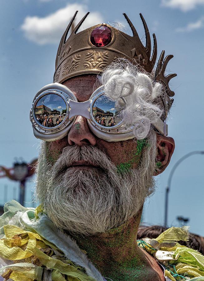 Mermaid Parade Coney Island NYC 6_22_2019 Mermaid King by Robert Ullmann