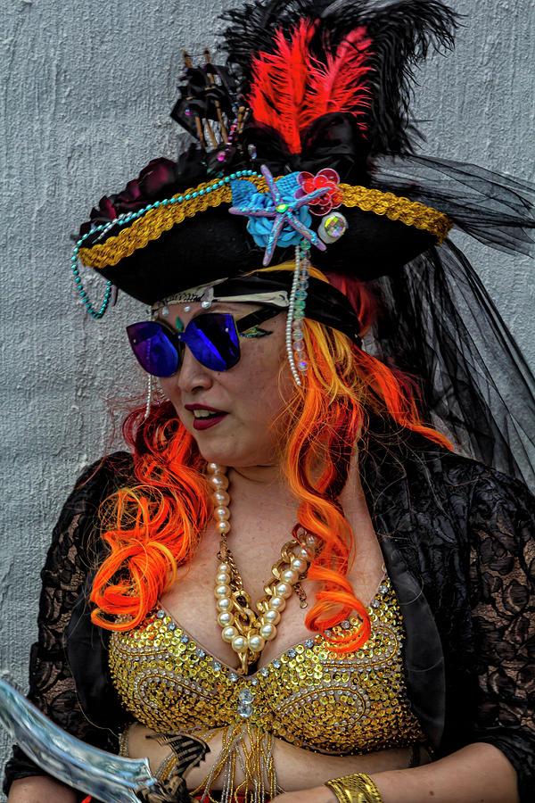 Mermaid Parade Coney Island NYC 6_22_2019 Woman in Pirate Costum by Robert Ullmann