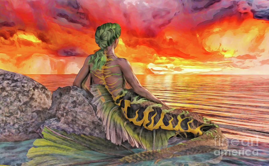 Mermaid Sunset by Methune Hively