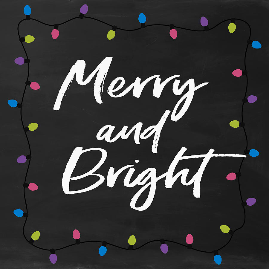 Merry Digital Art - Merry And Bright 2- Art By Linda Woods by Linda Woods