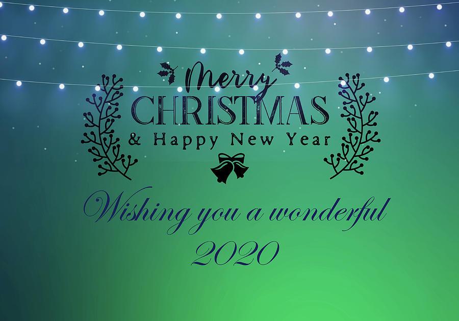 Merry Christmas And Happy New Year 2020 by Johanna Hurmerinta
