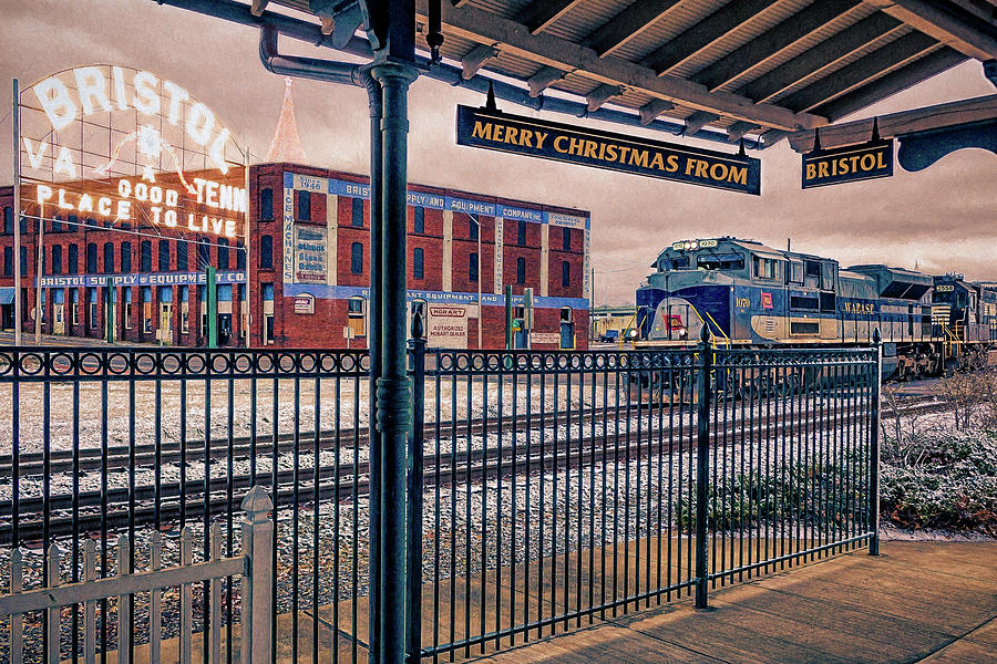 Christmas Photograph - Merry Christmas from Bristol by Greg Booher