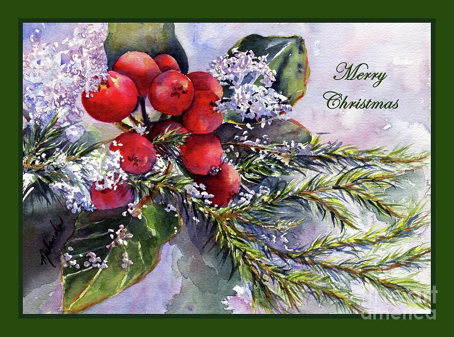 Merry Christmas Ice Capped Berries by Malanda Warner