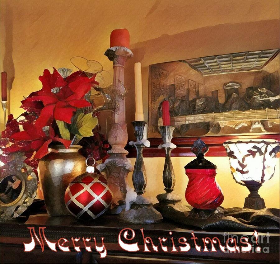 Merry Christmas Still Life by Jodie Marie Anne Richardson Traugott          aka jm-ART