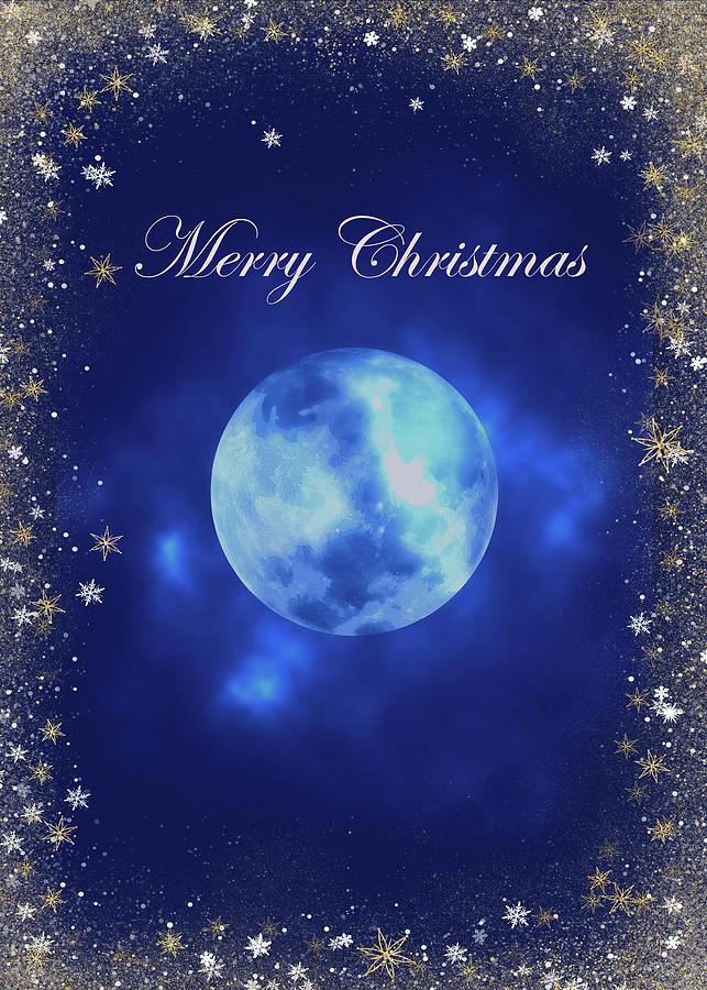 Merry Christmas Magical Blue Theme by Johanna Hurmerinta