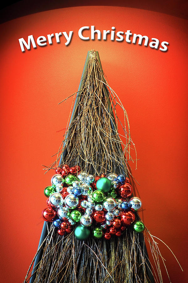 Merry Christmas Twig Tree by Bill Swartwout Fine Art Photography