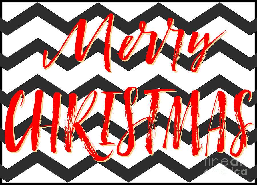 Merry Christmas Zigzag Digital Art