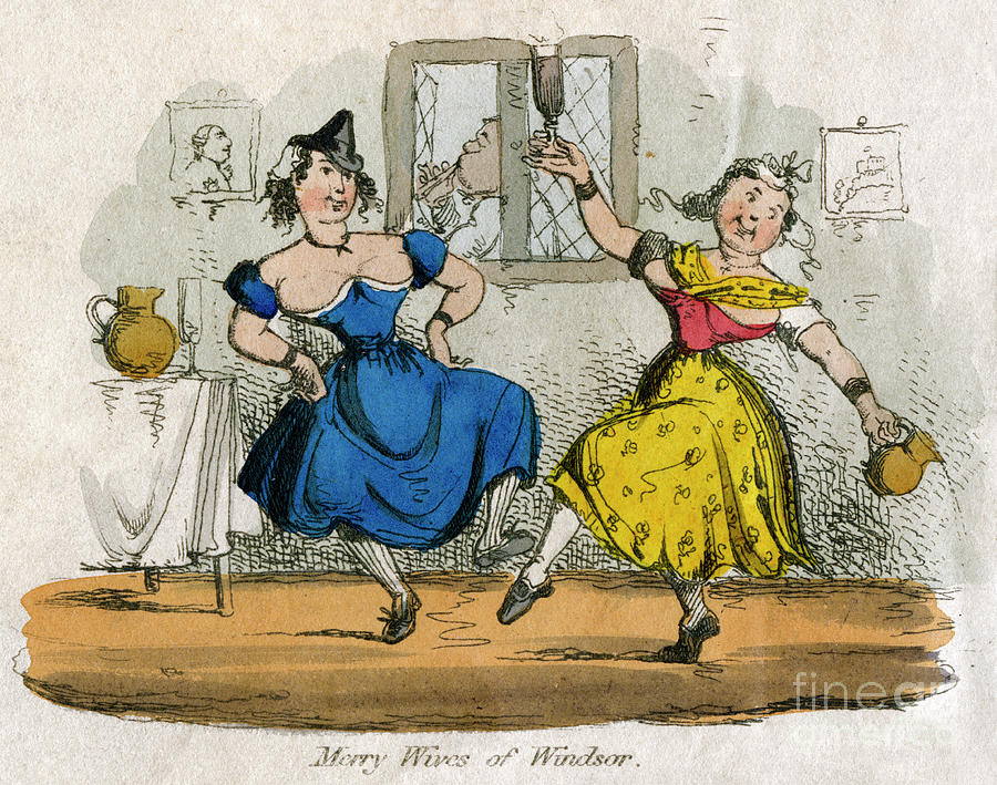 Merry Wives Of Windsor Drawing by Print Collector