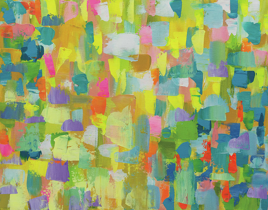 Abstract Painting - Merrymaking by Jeanette Vertentes