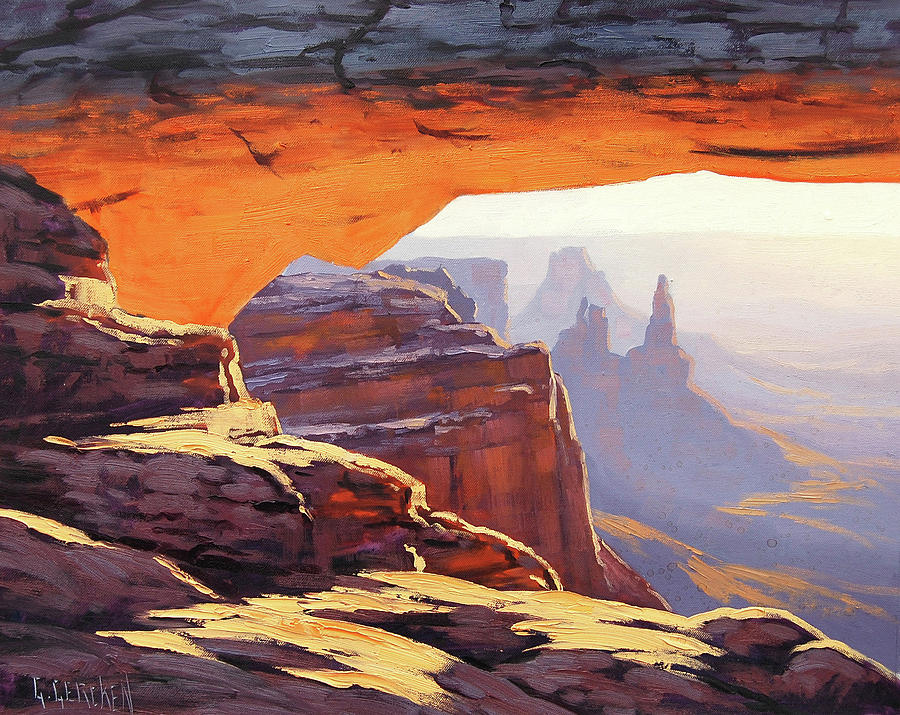Mesa Arch Sunrise Painting