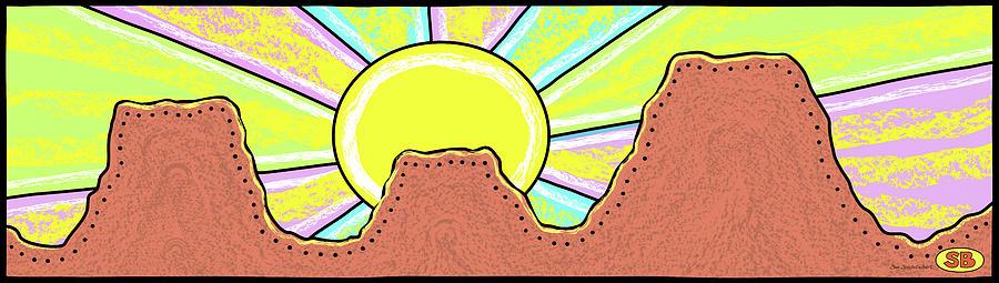 Mesa Digital Art - Mesa Sunrise by Susan Bird Artwork