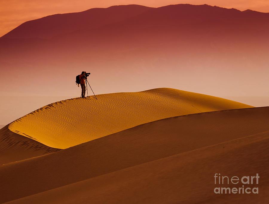 Sunrise Photograph - Mesquite Flat Dunes At Death Vakkey by Gleb Tarro