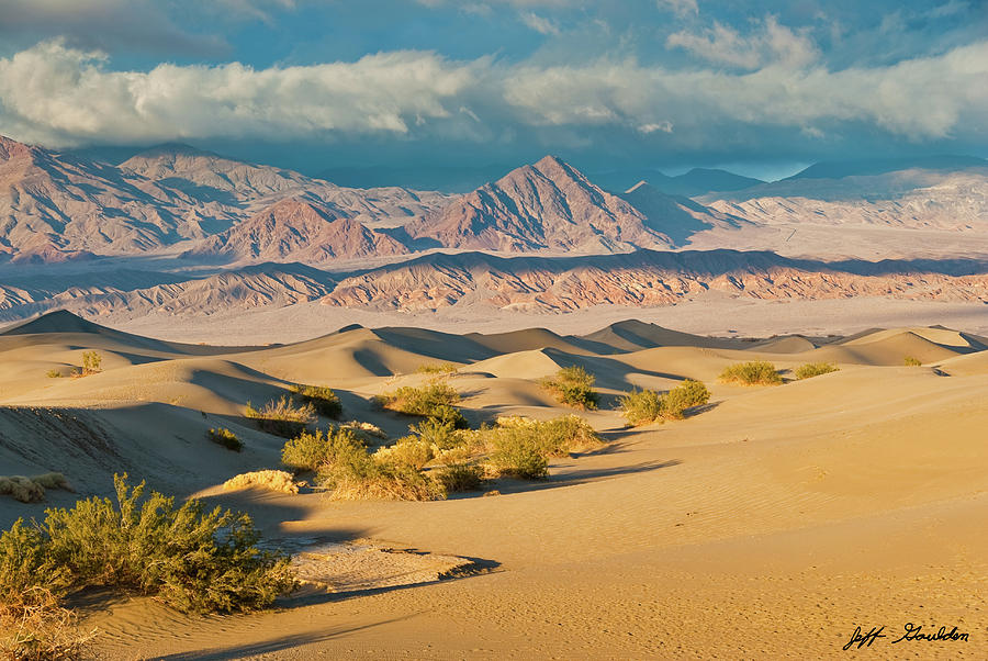 Mesquite Flat Sand Dunes at Sunset by Jeff Goulden