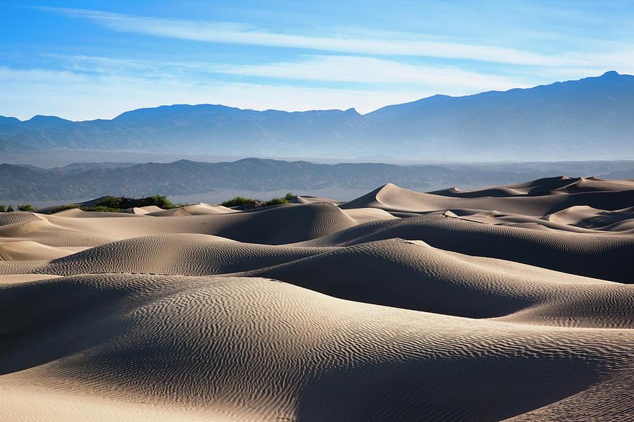 Mesquite Flat Sand Dunes Photograph by Walter Bibikow