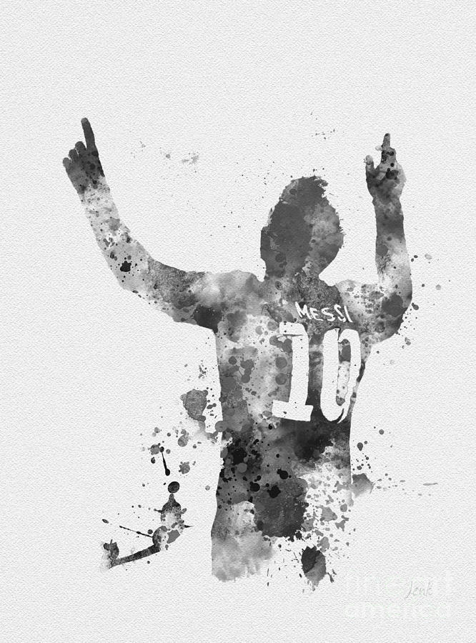 Art Messi Black And White Drawing