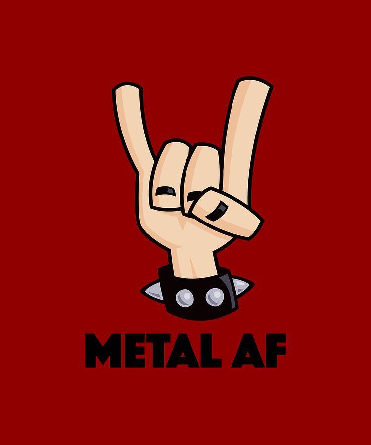 Metal Af Devil Horns Digital Art