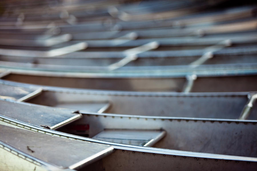Metal Canoes Photograph by Hal Bergman Photography