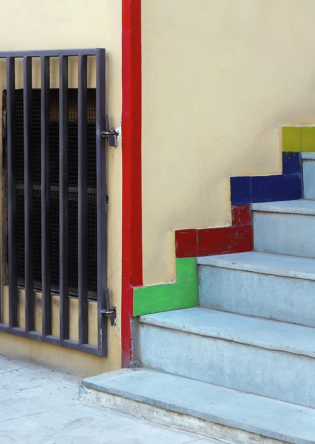 Metal Gate and Staircase Lines by Prakash Ghai