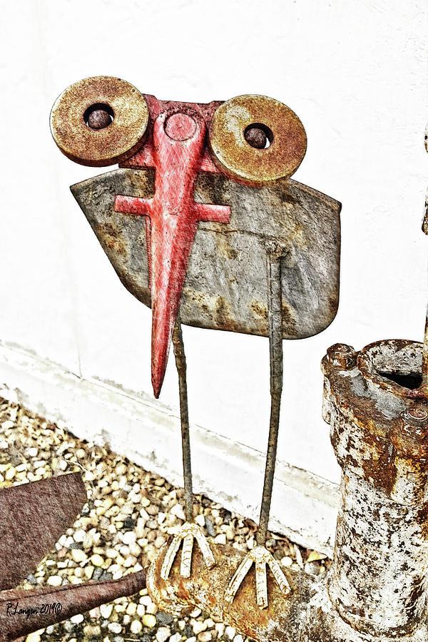 Metal Shovel Bird by Rebecca Langen
