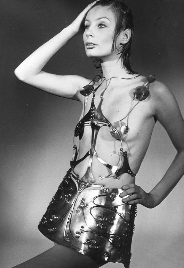Metallic Dress Photograph by Evening Standard