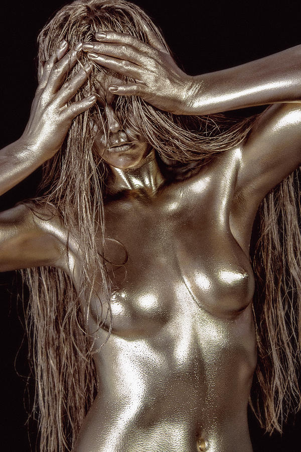 Bodypaint Painting - Iridescent Woman by Matt Deifer