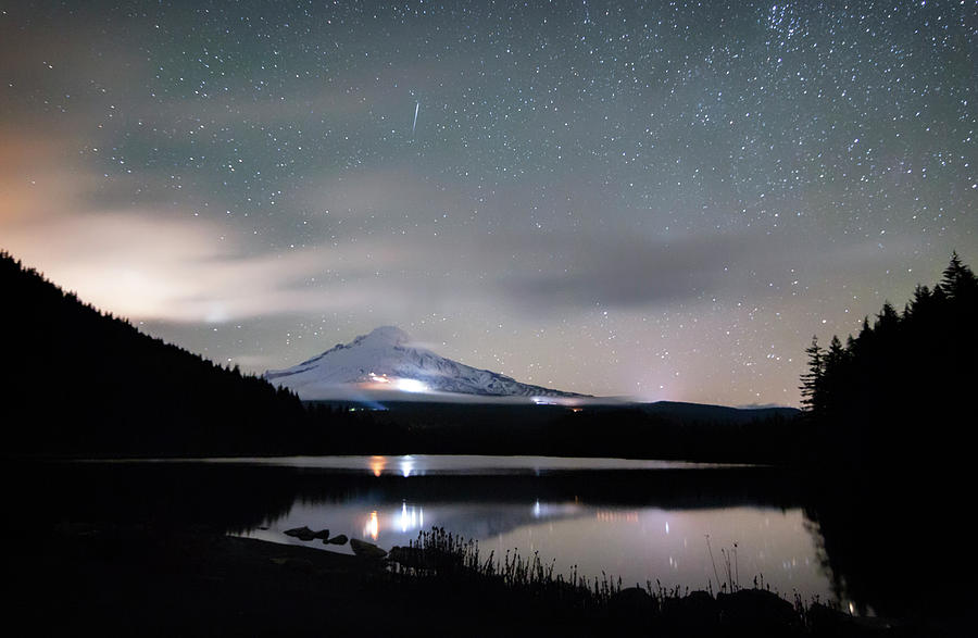 Meteor at Trillium Lake by Cat Connor