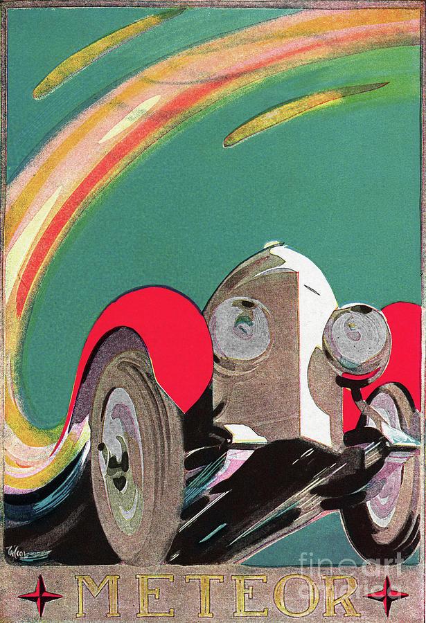 Meteor Motorcar Illustration Photograph by Bettmann