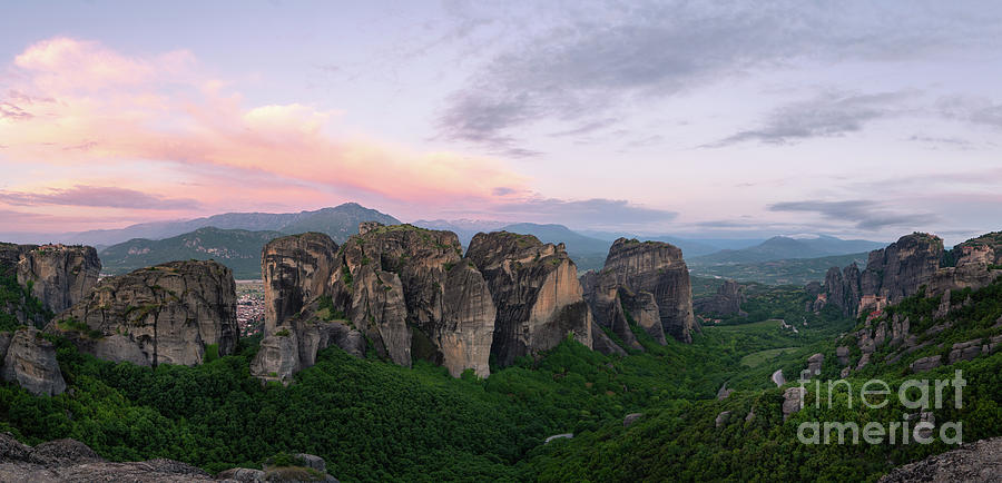Meteora sunrise panorama in Greece by Didier Marti