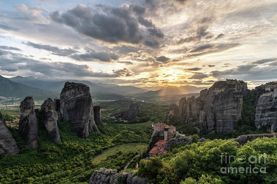 Meteora sunset in Greece by Didier Marti