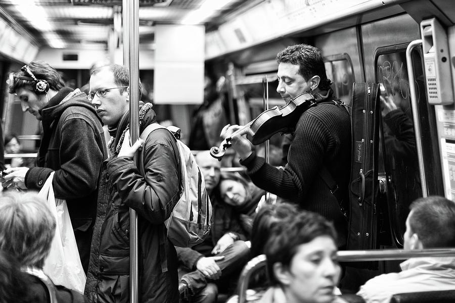 Paris Photograph - Metro Musician by B�rd Ellingsen
