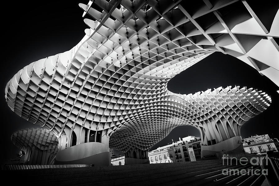 Seville Photograph - Metropol Parasol In Seville by Delphimages Photo Creations