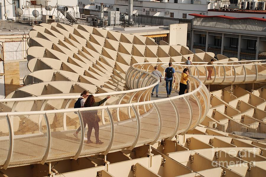 Metropol Parasol skywalk in Seville by David Fowler