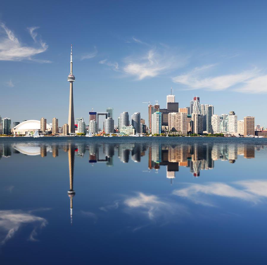 Metropolitan Toronto City Reflection Photograph by Buzbuzzer